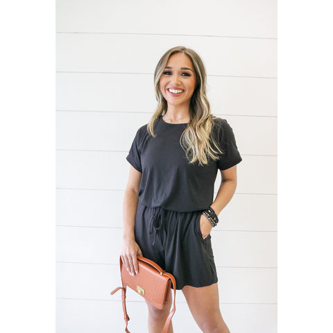The Miracle Romper - Black