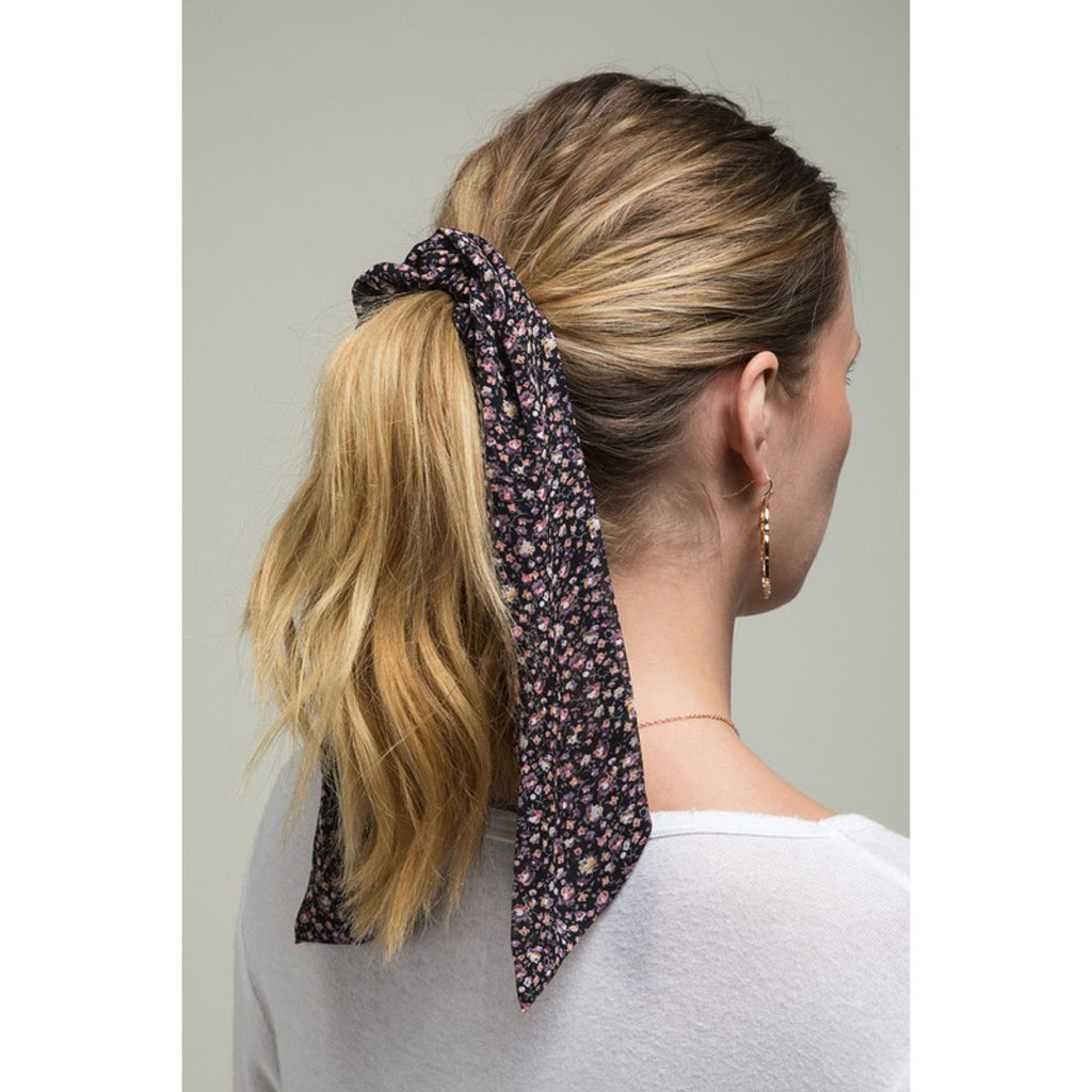 Flower Pony Tail Scarf Scrunchie