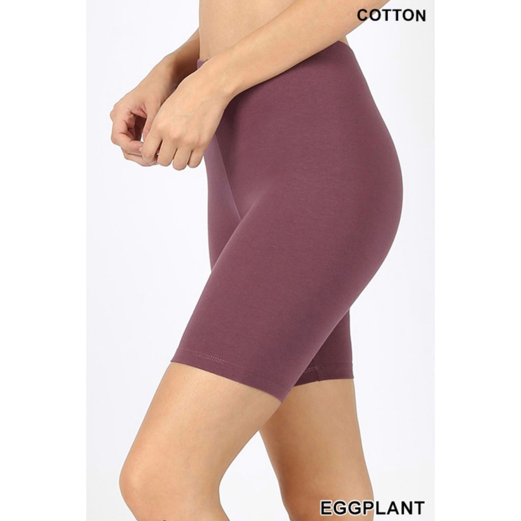 Savvy Stay Home Sets - Eggplant Shorts