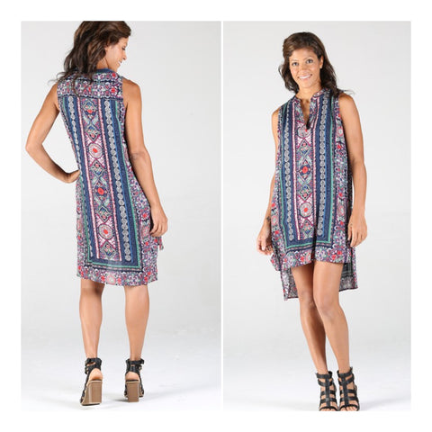 Sleeveless Box Dress - Multi Mix