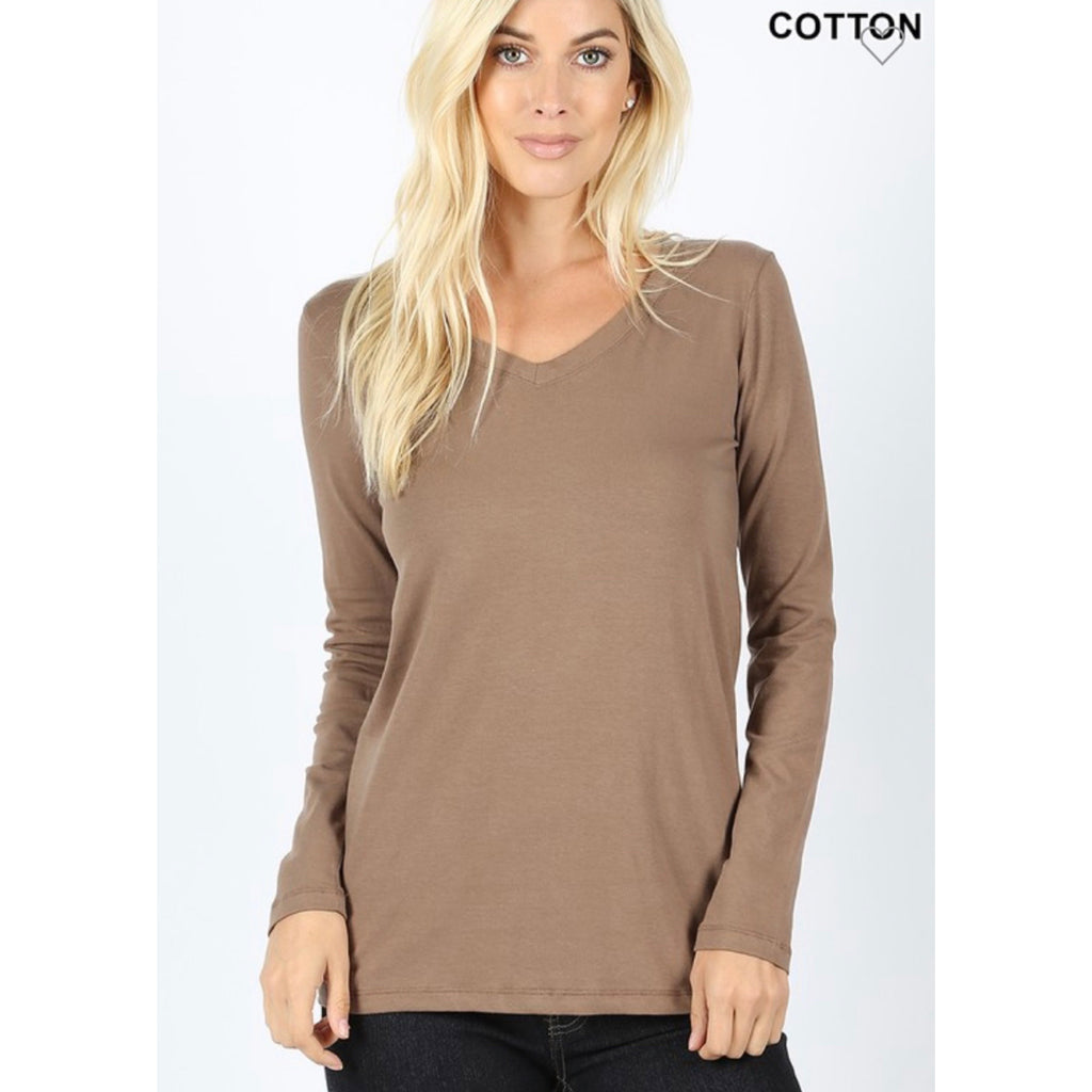 Savvy Basics Top - Mocha