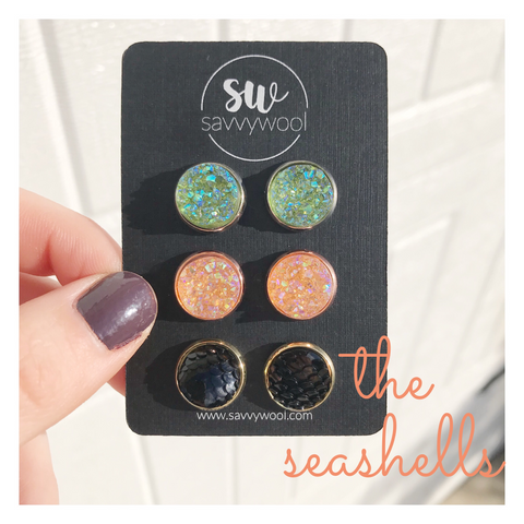 The Seashells Druzy Set