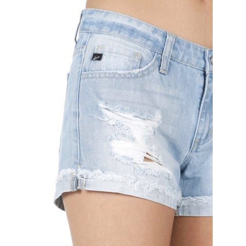 Kan Can Denim Shorts - Light Wash