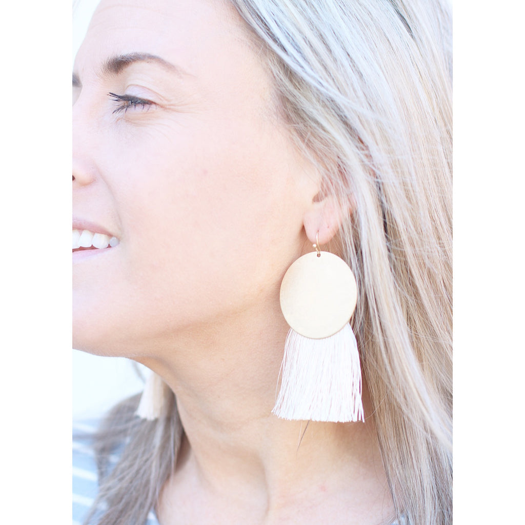 Gold and Ivory Statement Earrings