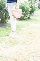 Handmade Bamboo Clutch in Natural