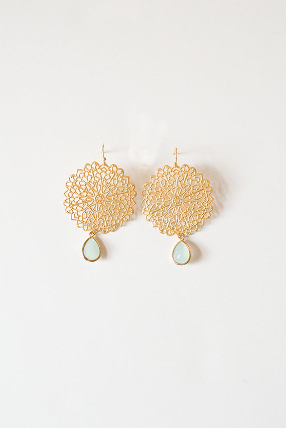 Chloe Medallion Earrings