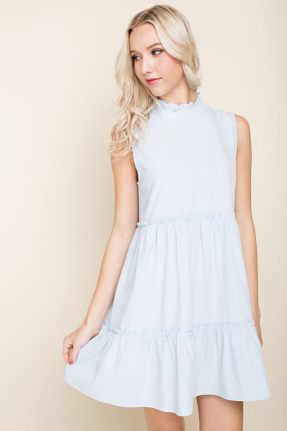 Riley Babydoll Ruffled Hem Dress