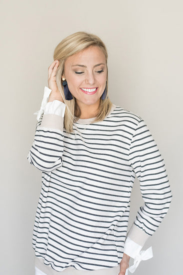 Sail Away Side Tie Sweater