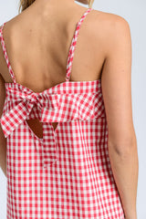 Millie Red Gingham Top