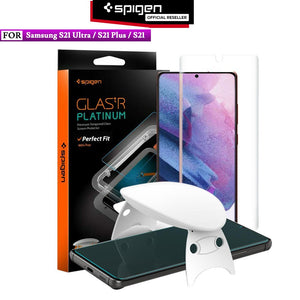Tempered Glass UV Samsung Galaxy S21 Ultra S21 Plus Spigen Glass Platinum