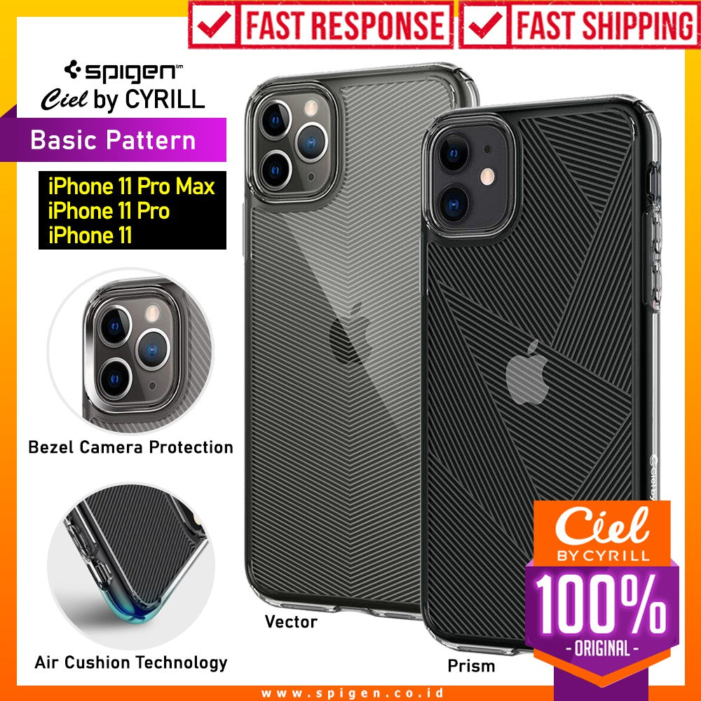 Case iPhone 11 Pro Max / 11 Pro / 11 Spigen Ciel by Cyrill Basic Pattern Clear Motif Casing