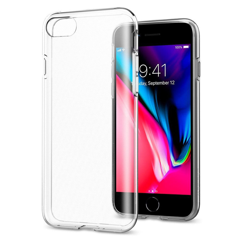 Case iPhone SE 2020 / 8 / 7 Spigen Liquid Crystal 2 Transparant Softcase Casing