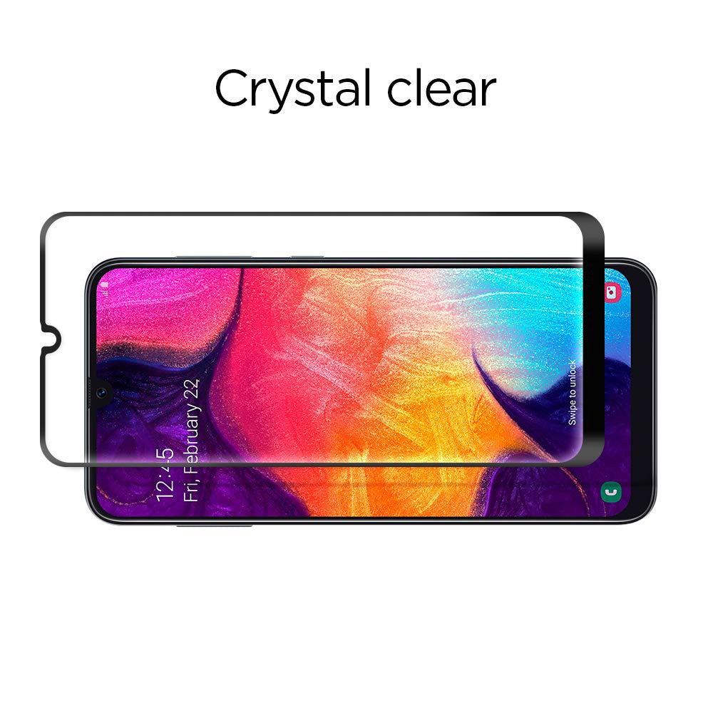 Tempered Glass Galaxy A50 A50s / A70 A70s Spigen Glas tR Full Cover Anti Gores Screen Protector