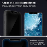 Tempered Glass iPhone 12 / Pro / Max / Mini Spigen Glas tR EZ Fit Anti Gores Screen Protector