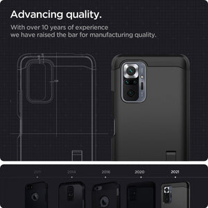 Case Xiaomi Redmi Note 10/ 10s/ Pro Max Spigen Tough Armor Stand Casing