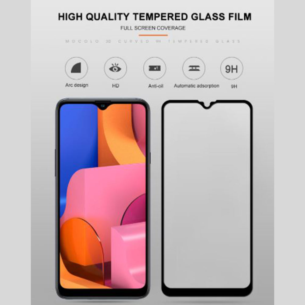Anti Gores Tempered Glass Samsung Galaxy A20s Mocolo Full Cover Glue