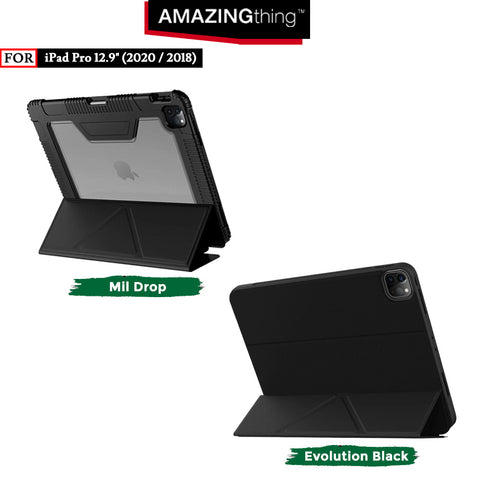 Case iPad Pro 12.9 (2020 2018) Amazingthing Antibacterial Stand Casing
