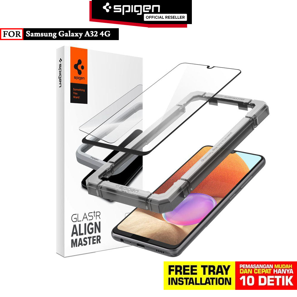 Tempered Glass Samsung Galaxy A32 4G Spigen AlignMaster Full Cover