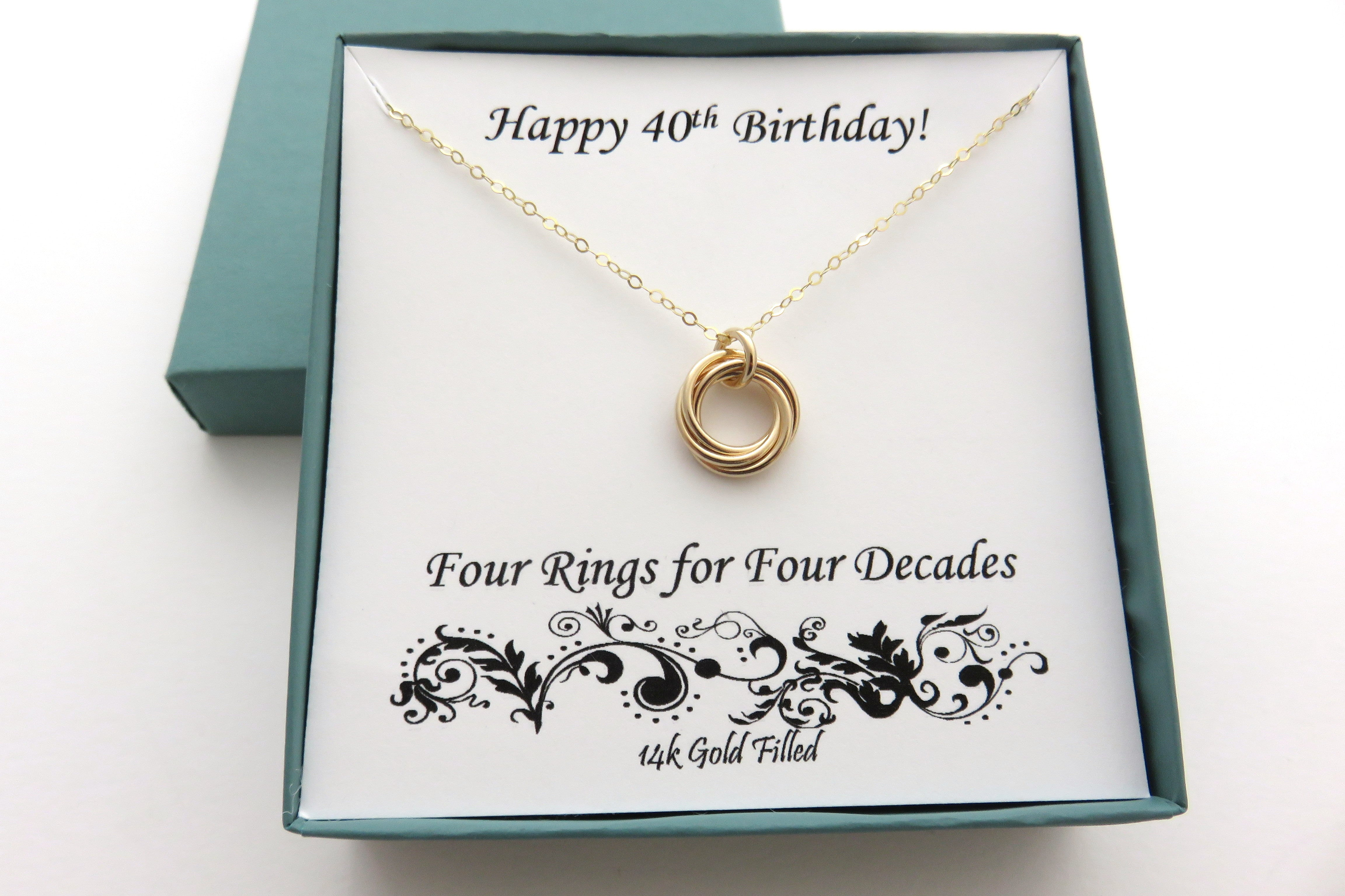 40th Birthday Gift for Her | Gold 40th Birthday Gift ...