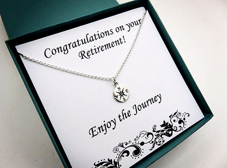 Retirement Gift for Women | Sterling Silver Compass Necklace - Handmade Jewelry ... & Graduation Necklaces for Her | Handmade Jewelry by MarciaHDesigns
