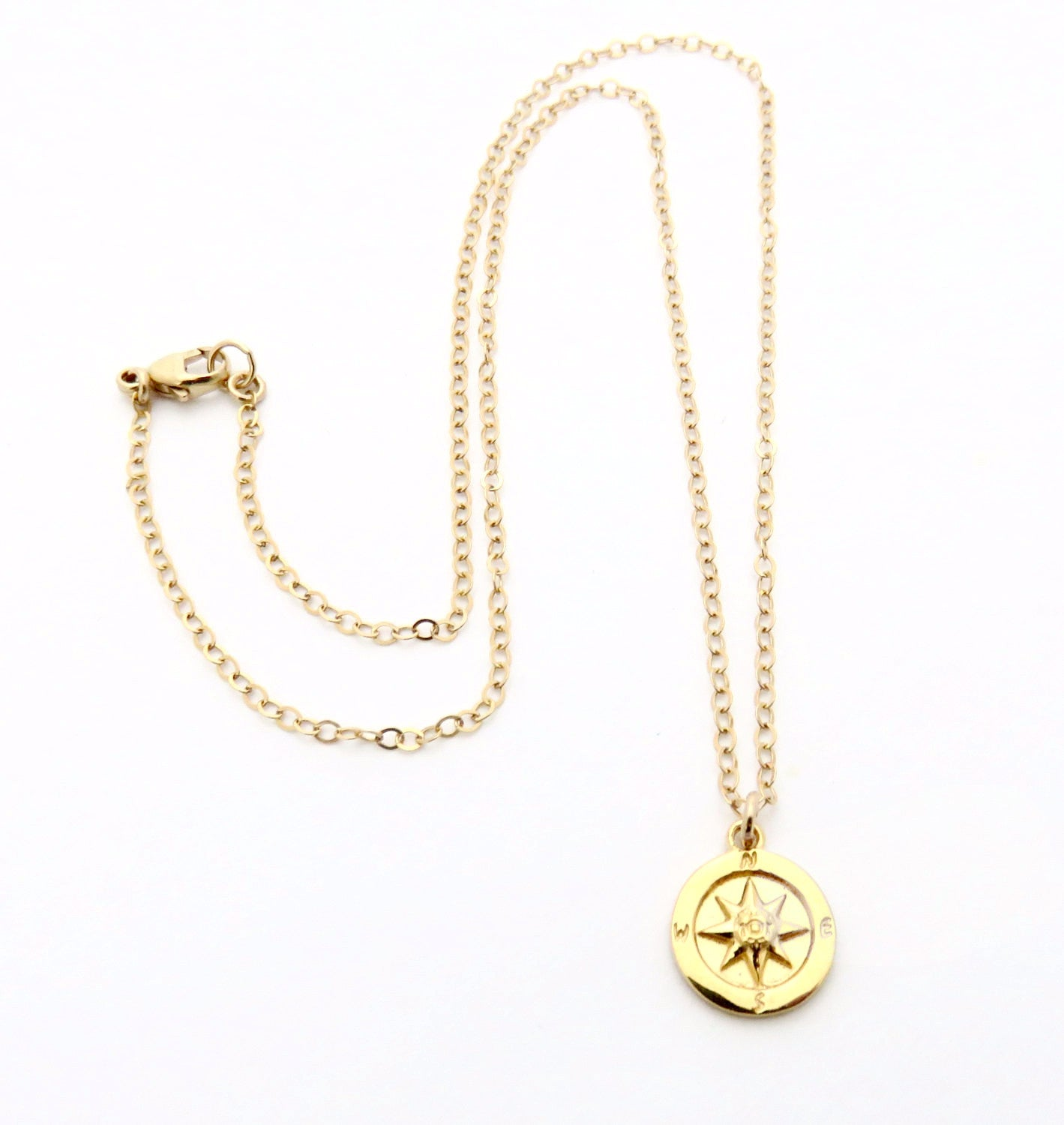 footnotes silver compass necklace sterling products jewelry
