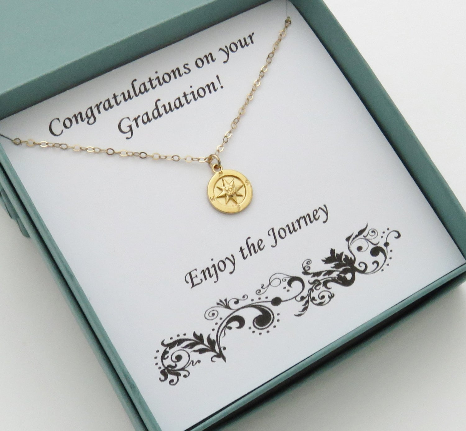 Gold compass necklace graduation gift for her marciahdesigns gold compass necklace graduation gift for her handmade jewelry solutioingenieria Images