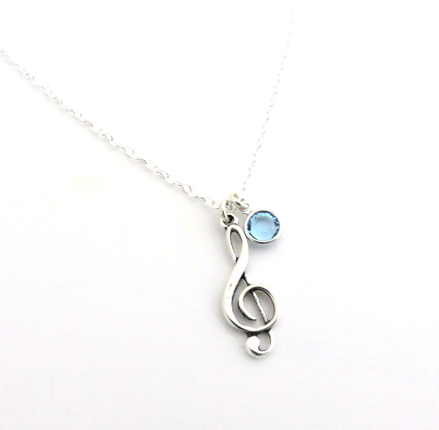 chain jewelry on necklace moodstone pendant rhodium music plated igm