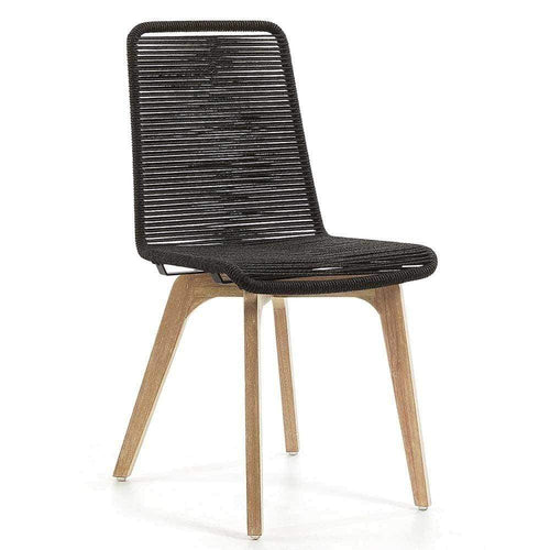 Anaru Rope Dining Chair - Dark Grey Dining Chairs and Bar Stools Dianna-Lynn Decor
