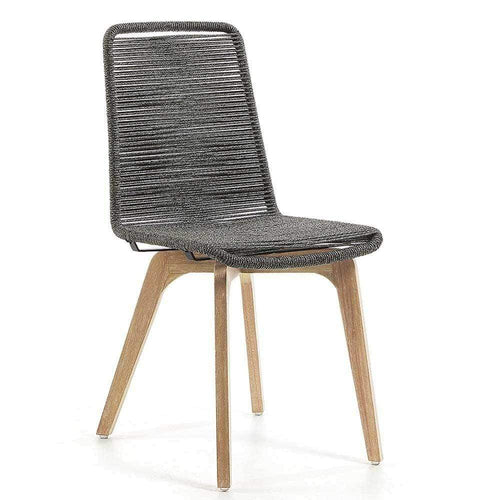 Anaru Rope Dining Chair - Grey Dining Chairs and Bar Stools Dianna-Lynn Decor
