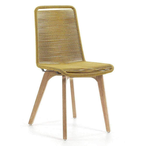 Anaru Rope Dining Chair - Mustard Dining Chairs and Bar Stools Dianna-Lynn Decor