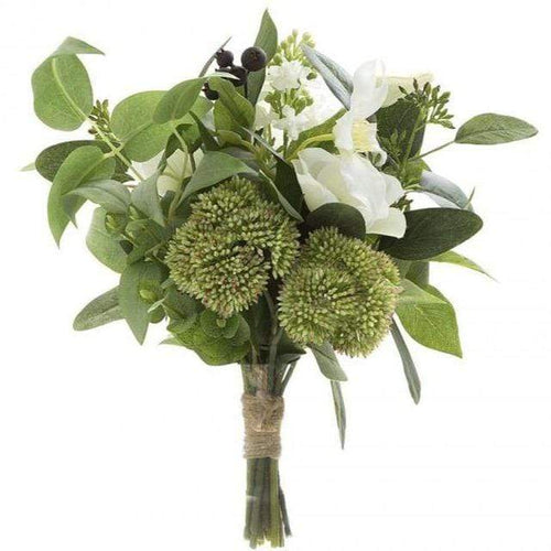 Anemone Berry Mix Bouquet - White Artificial Flowers Dianna-Lynn Decor