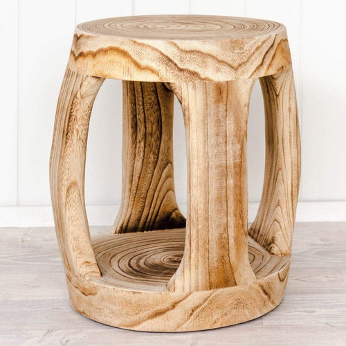 Anoki Stool - Natural 31x40cm Low Stools and Benches Dianna-Lynn Decor