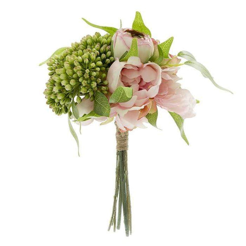 Artificial Peony Bouquet - Pink Artificial Flowers Dianna-Lynn Decor