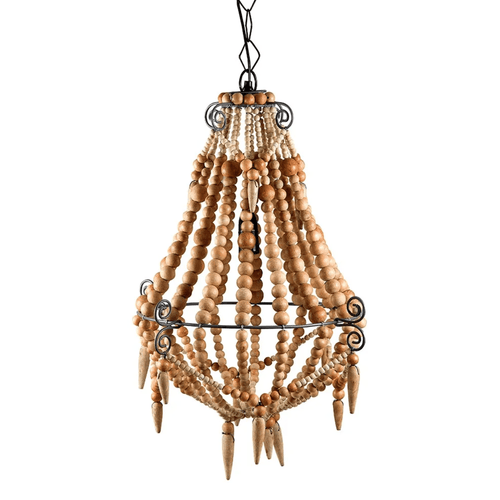 Beaded Chandelier Small In Natural Lighting Dianna-Lynn Decor