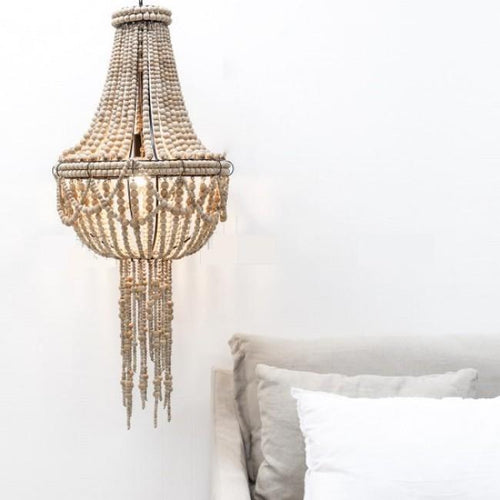 Beaded Tassel Chandelier - Natural Lighting Dianna-Lynn Decor