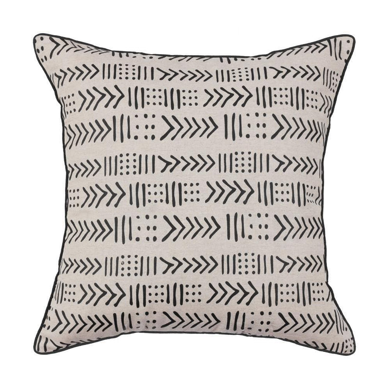 Black Zulu Cushion Cover - 55cm x 55cm