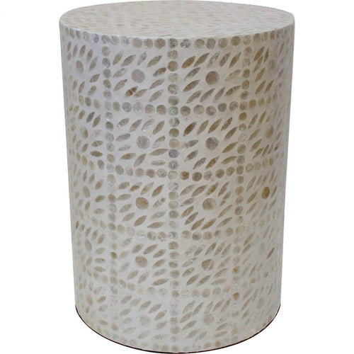 Capiz Diamond Stool Low Stools and Benches Dianna-Lynn Decor