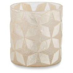 Capiz Shell Votive Candle Holder-Ivory Lanterns and Candle Holders Dianna-Lynn Decor