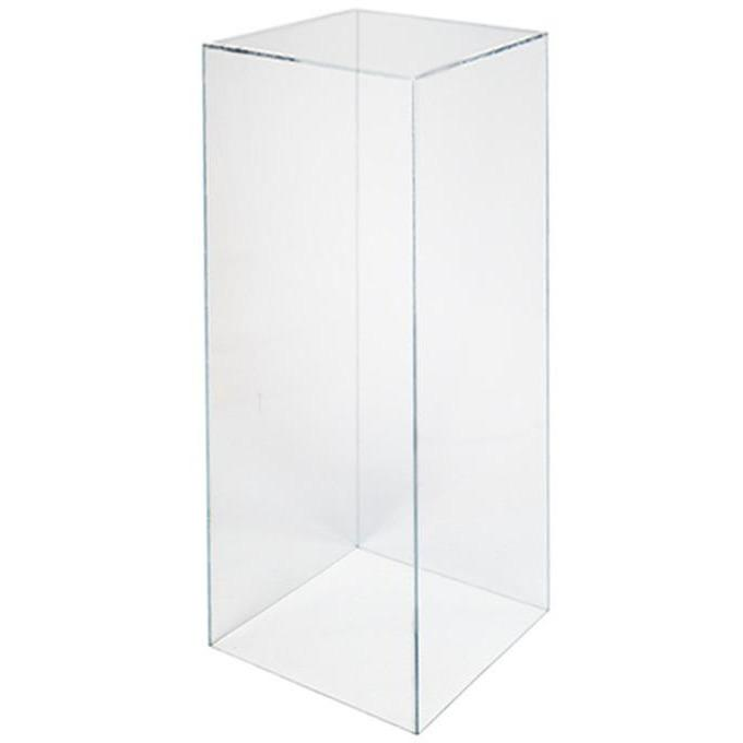 Clear Acrylic Plinth Hire - 70cmH Event Furniture Hire Dianna-Lynn Decor
