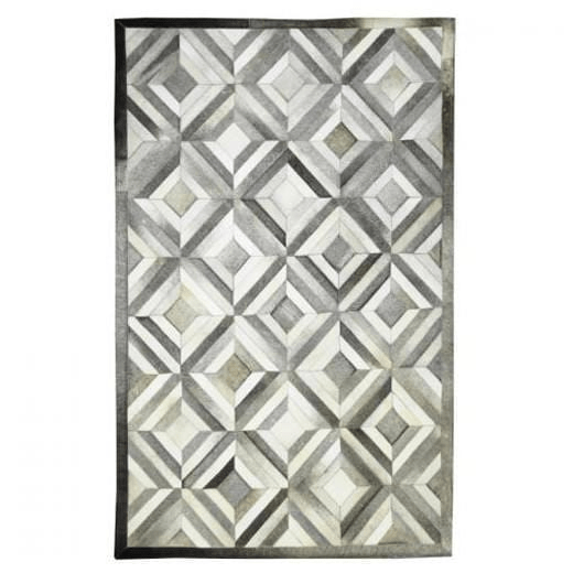 Cowhide and Leather Rug Callide 180cmD