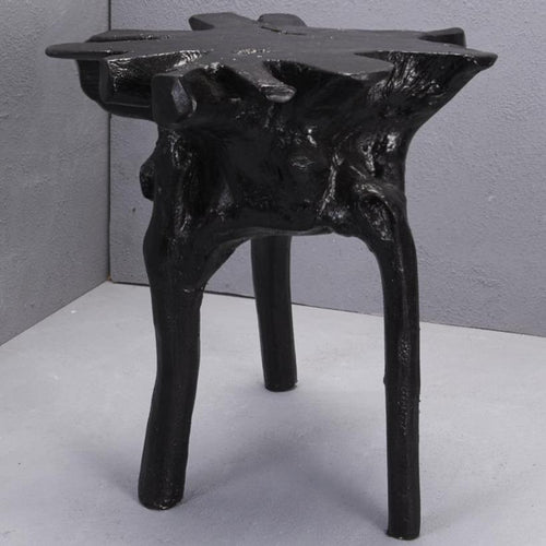 Elif Tree Root Stool - Black Low Stools and Benches Dianna-Lynn Decor