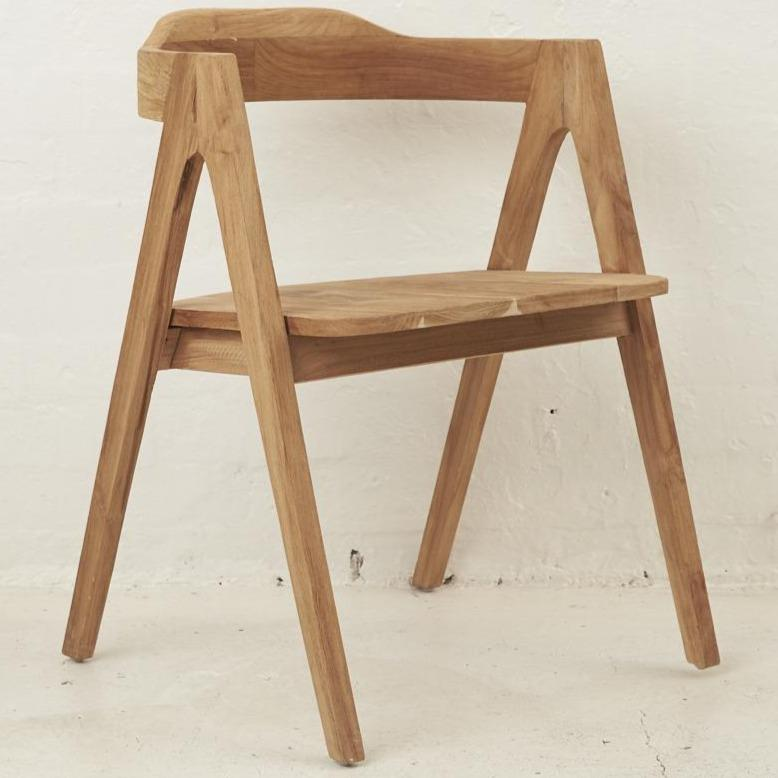 Esera Angled Dining Armchair - Natural
