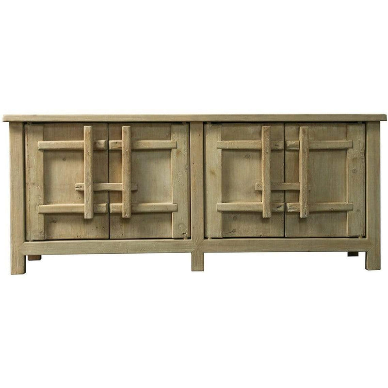 Ethnic 4 Door Recycled Elm Cabinet