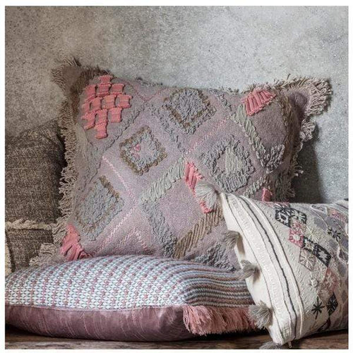 Fatima Blush Embroidered Cushion Soft Furnishings Dianna-Lynn Decor