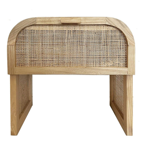 Grace Rattan Bedside Table Bedroom Furniture Dianna-Lynn Decor