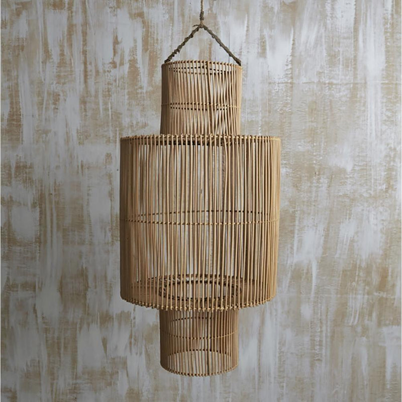 Handwoven Rattan Cylindrical Lightshade - Natural