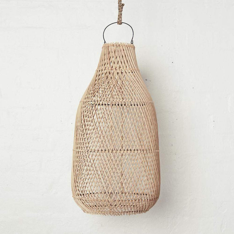 Handwoven Rattan Tear Drop Lightshade - Natural