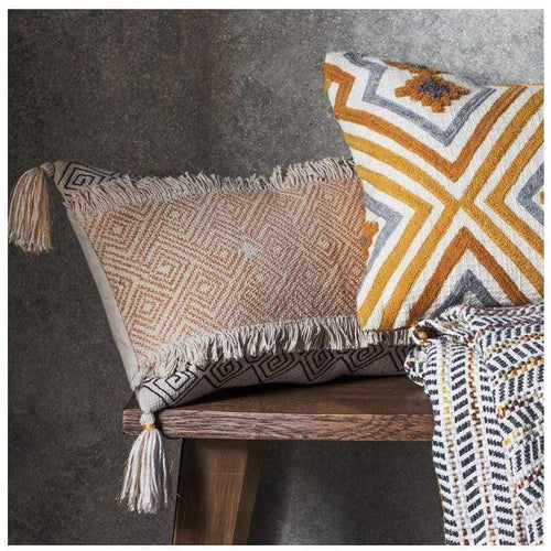 Hansa Bohemian Cushion Ochre Soft Furnishings Dianna-Lynn Decor