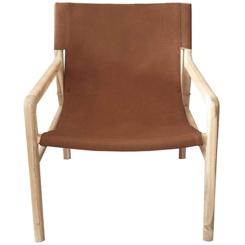 Java Chair Tan Leather Lounges and Chairs Dianna-Lynn Decor