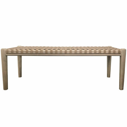 Jumbo Rewa Bench Seat in Natural Low Stools and Benches Dianna-Lynn Decor